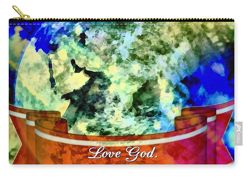 Jesus Carry-all Pouch featuring the digital art The Mission Is Simple by Michelle Greene Wheeler