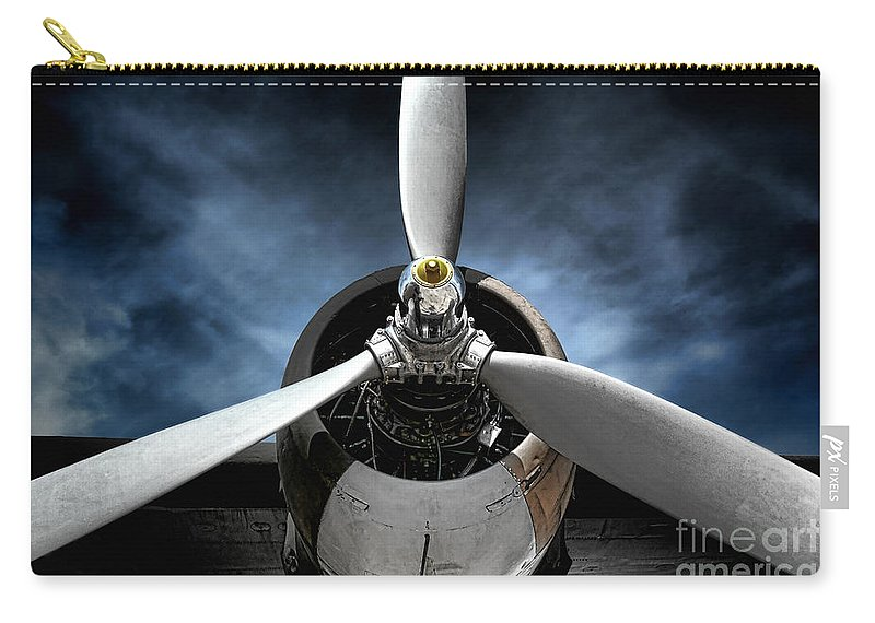 Plane Carry-all Pouch featuring the photograph The Mission by Olivier Le Queinec
