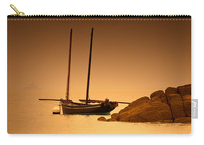 Loriental Carry-all Pouch featuring the photograph The Mont Saint-michel Bay At Sunset by Loriental Photography