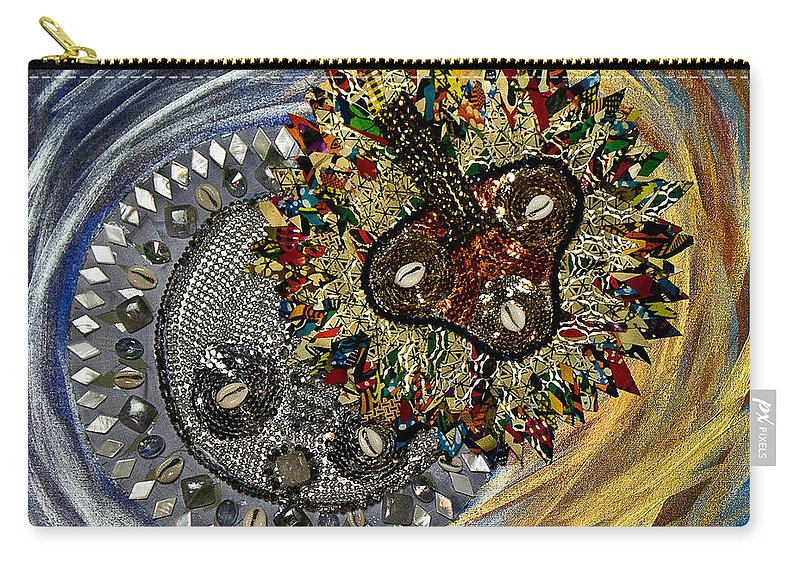 Sun Carry-all Pouch featuring the tapestry - textile The Moon's Eclipse by Apanaki Temitayo M