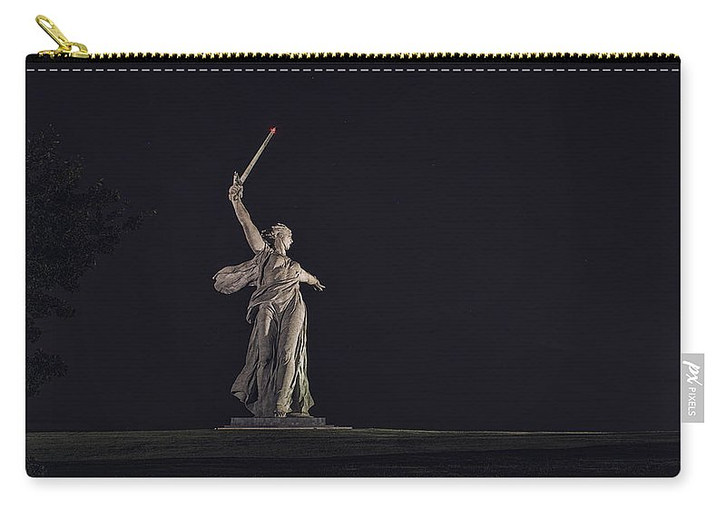 Landscapes Carry-all Pouch featuring the photograph The Motherland Calls. Stalingrad by Alexandr Marynkin