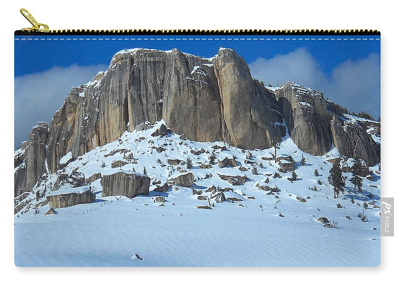 Steamship Point Carry-all Pouch featuring the photograph The Mountain Citadel by Michele Myers