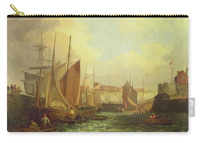 Pirates Carry-all Pouch featuring the painting The Mouth Of The Yare, 1821 by George Vincent