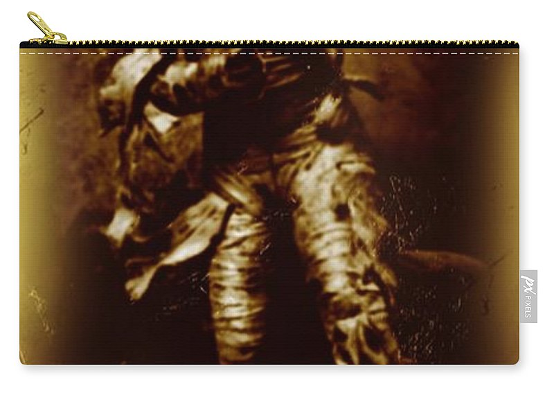 Nightmares Carry-all Pouch featuring the photograph The Mummy Document by John Malone