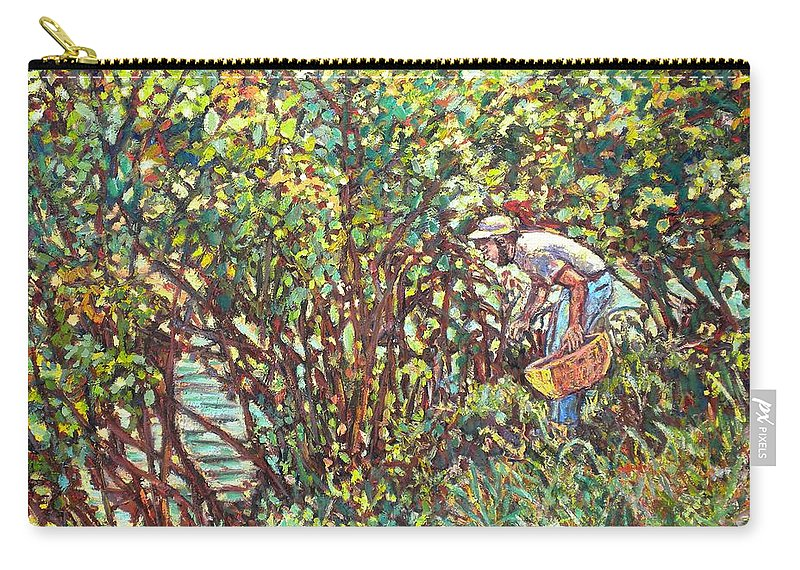 Landscape Carry-all Pouch featuring the painting The Mushroom Picker by Kendall Kessler