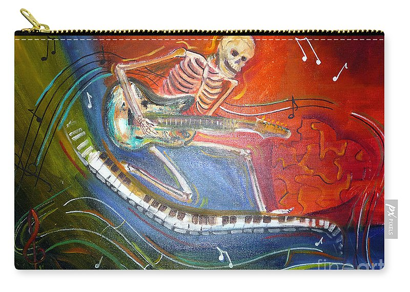 Halloween Carry-all Pouch featuring the painting The Music Must Go On by To-Tam Gerwe