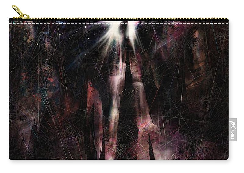 Needle Carry-all Pouch featuring the digital art the Needle by Rachel Christine Nowicki
