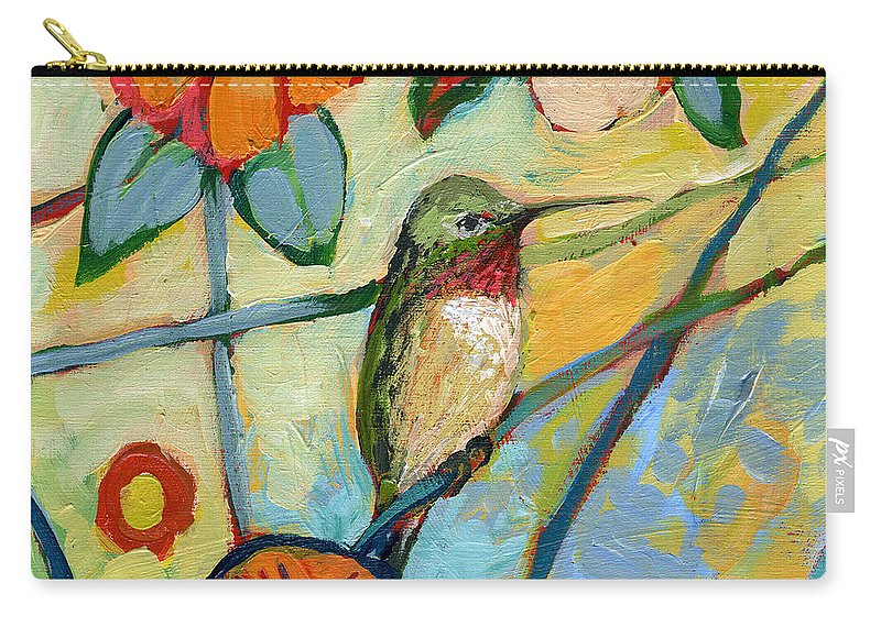 Hummingbird Carry-all Pouch featuring the painting The NeverEnding Story No 6 by Jennifer Lommers