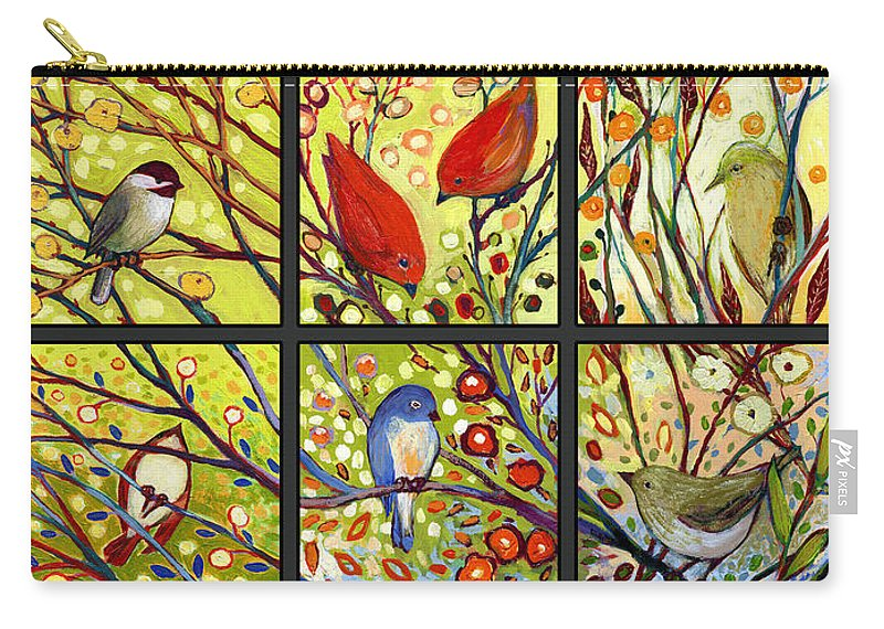 Bird Carry-all Pouch featuring the painting The NeverEnding Story Set of 12 a2 by Jennifer Lommers