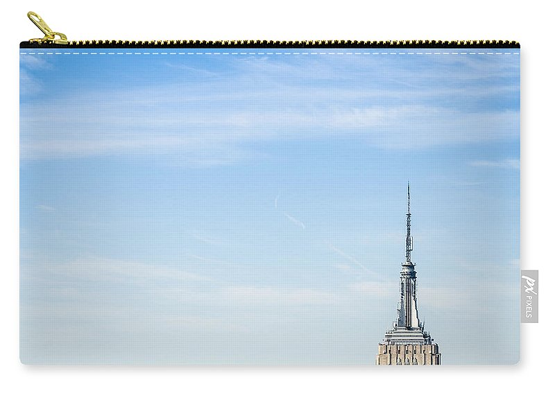 Lower Manhattan Carry-all Pouch featuring the photograph The New York City Empire State Building by Franckreporter