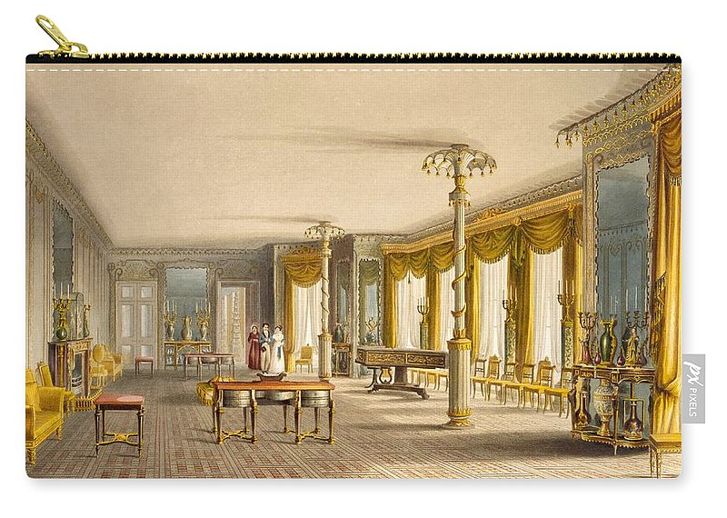Pillar Carry-all Pouch featuring the drawing The North Drawing Room, Or Music Room by English School