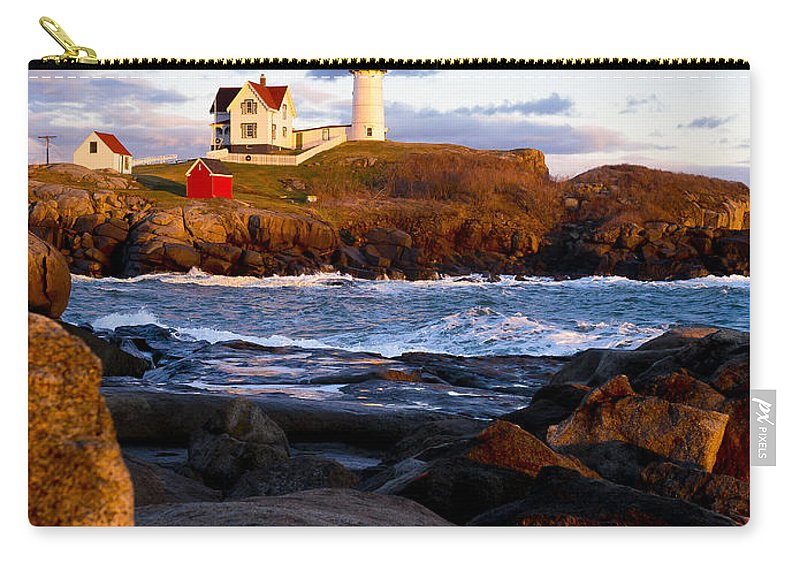 Lighthouse Carry-all Pouch featuring the photograph The Nubble Lighthouse by Steven Ralser