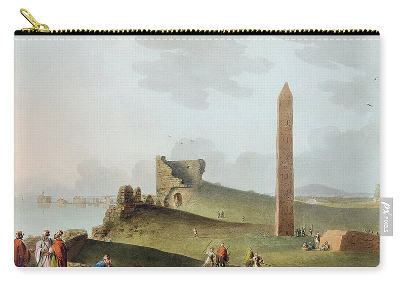 Landscape Carry-all Pouch featuring the drawing The Obelisks At Alexandria, Called by Luigi Mayer