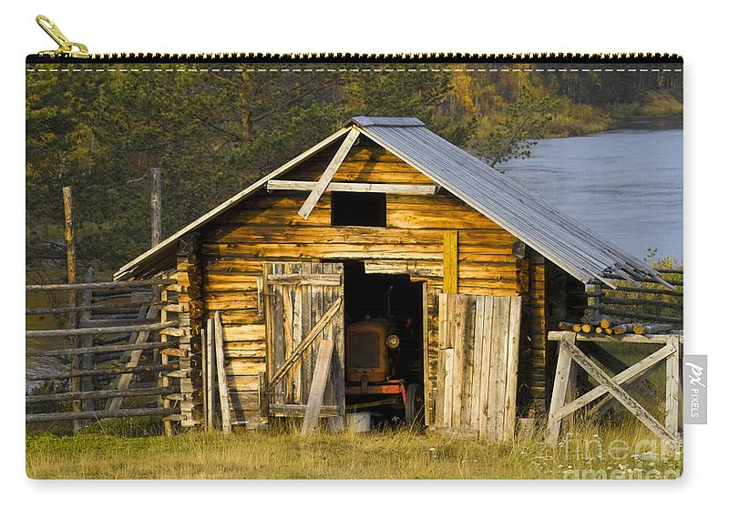 Heiko Carry-all Pouch featuring the photograph The Old Barn by Heiko Koehrer-Wagner