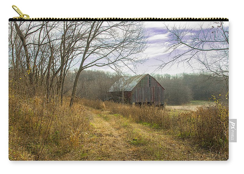 Barn Carry-all Pouch featuring the photograph The Old Barn by Ken Kobe