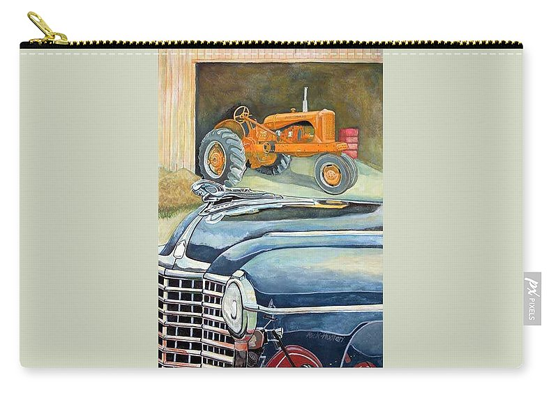 Rick Huotari Carry-all Pouch featuring the painting The Old Farm by Rick Huotari