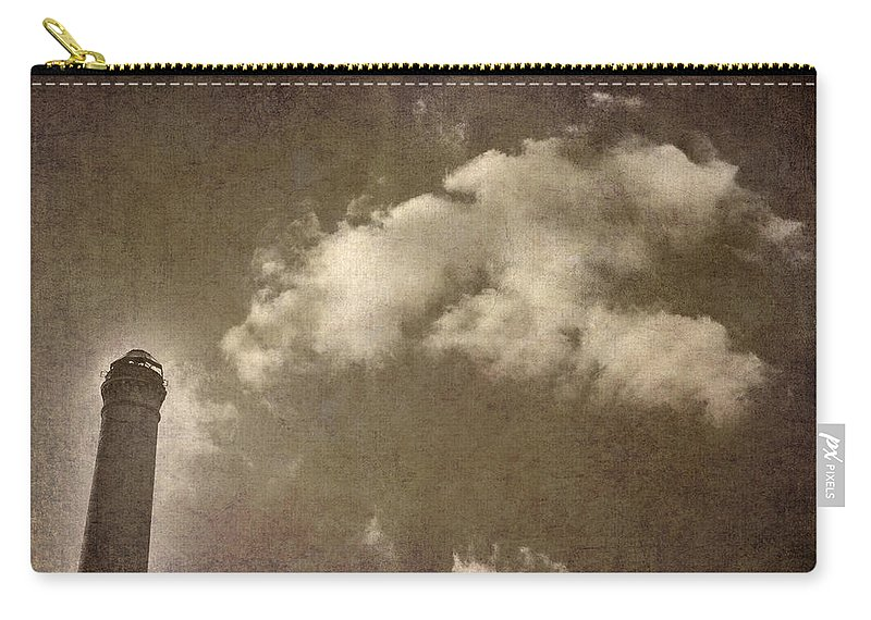 Fireplace Carry-all Pouch featuring the photograph The Old Fireplace And Its Cloud by Guido Montanes Castillo