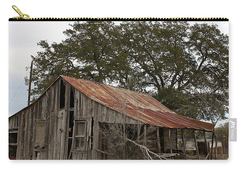 Rustic Carry-all Pouch featuring the photograph The Old Homestead by Terry Fleckney