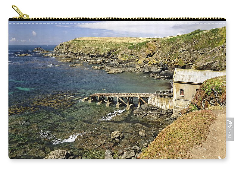 Bright Carry-all Pouch featuring the photograph The Old Lizard Lifeboat Station by Rod Johnson
