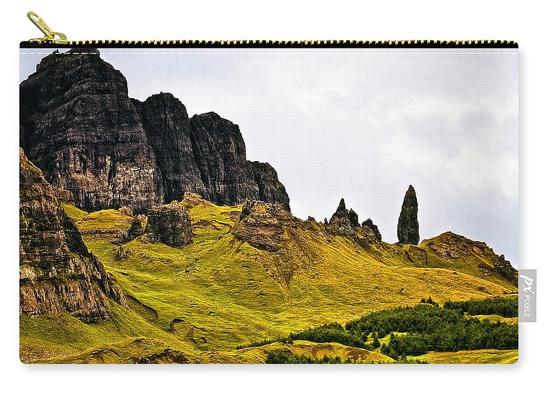 Landscape Carry-all Pouch featuring the photograph The Old Man Of Storr by Marcia Colelli
