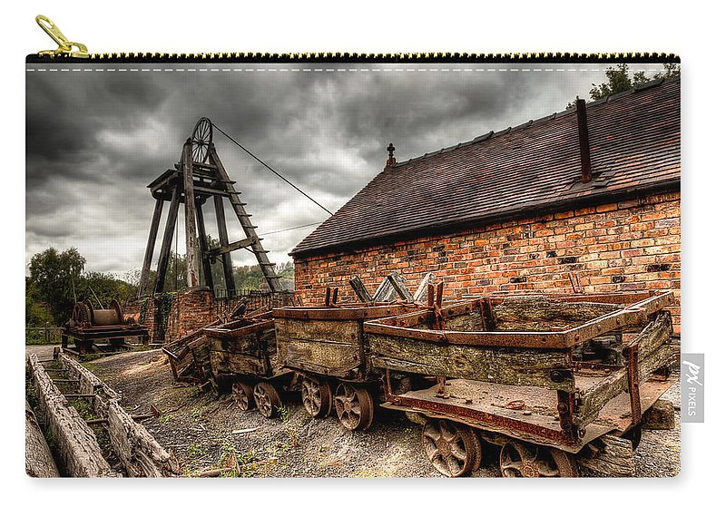 Coal Mine Carry-all Pouch featuring the photograph The Old Mine by Adrian Evans