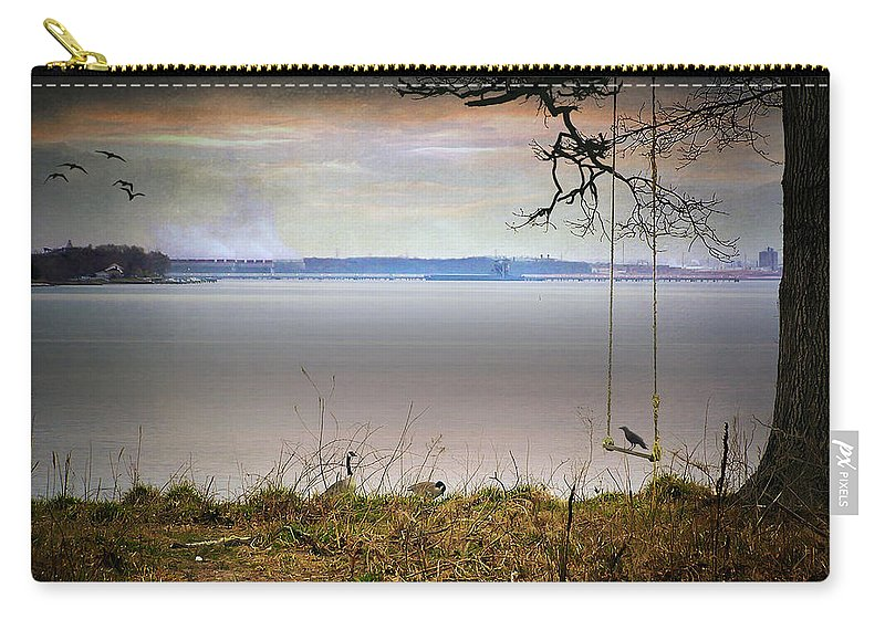2d Carry-all Pouch featuring the photograph The Old Swing by Brian Wallace