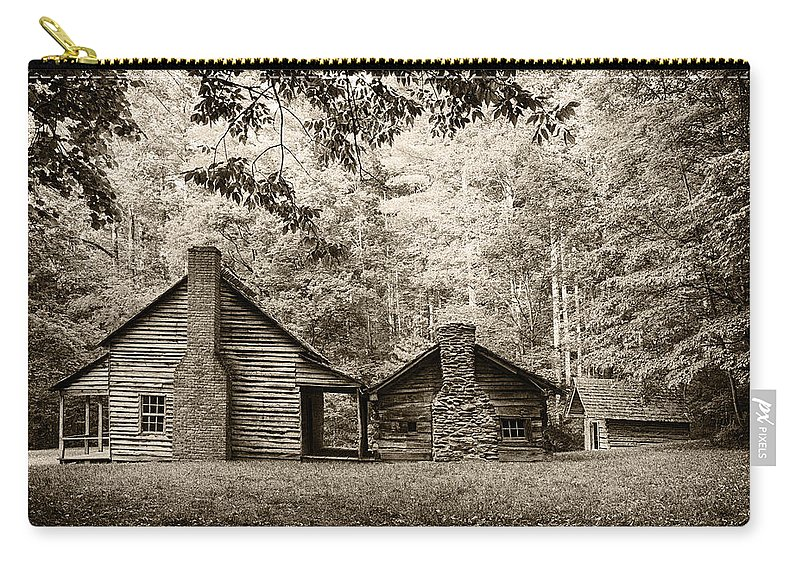 Cabin Carry-all Pouch featuring the photograph The Old Whitehead Place E211 by Wendell Franks