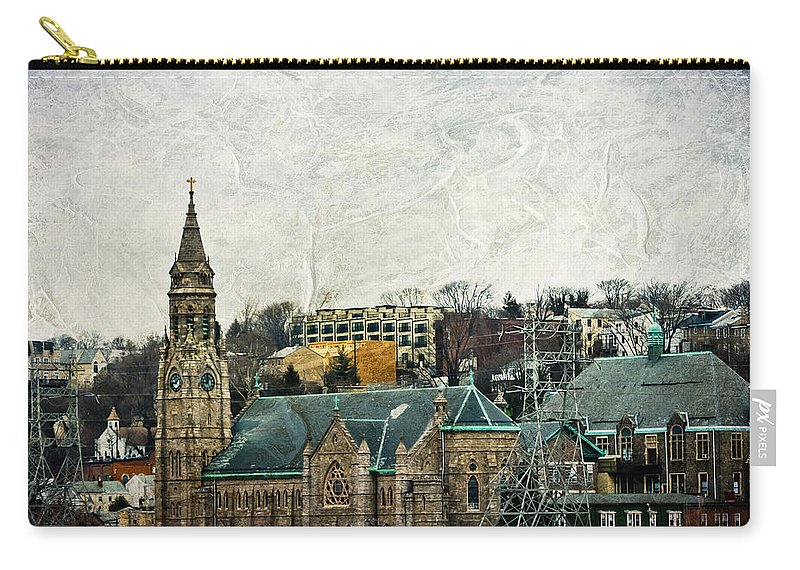House Carry-all Pouch featuring the mixed media The Only Good Thing About The Highway Is The Scenery by Trish Tritz