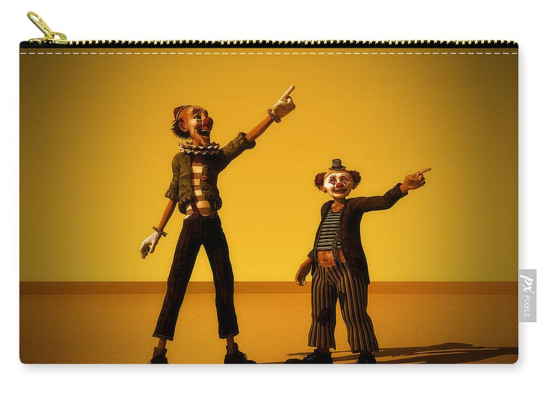 Clowns Carry-all Pouch featuring the digital art The Only Way by Ramon Martinez