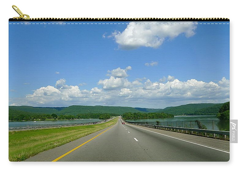 Open Road Carry-all Pouch featuring the photograph The Open Highway by Denise Mazzocco