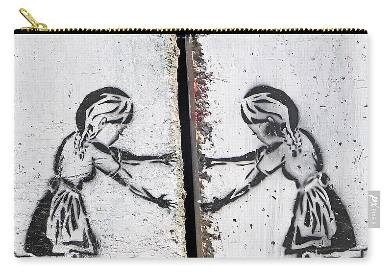 Two Girls Carry-all Pouch featuring the photograph The Opening by Munir Alawi