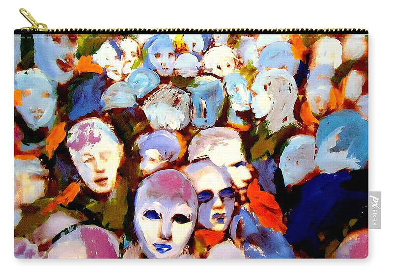 People Carry-all Pouch featuring the painting Other Side by Helena Wierzbicki