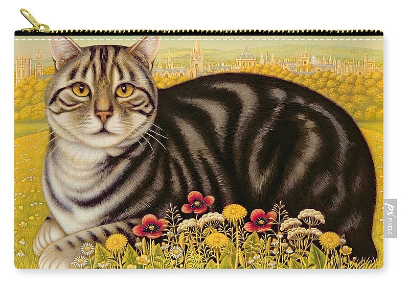 Landscape Carry-all Pouch featuring the painting The Oxford Cat by Frances Broomfield