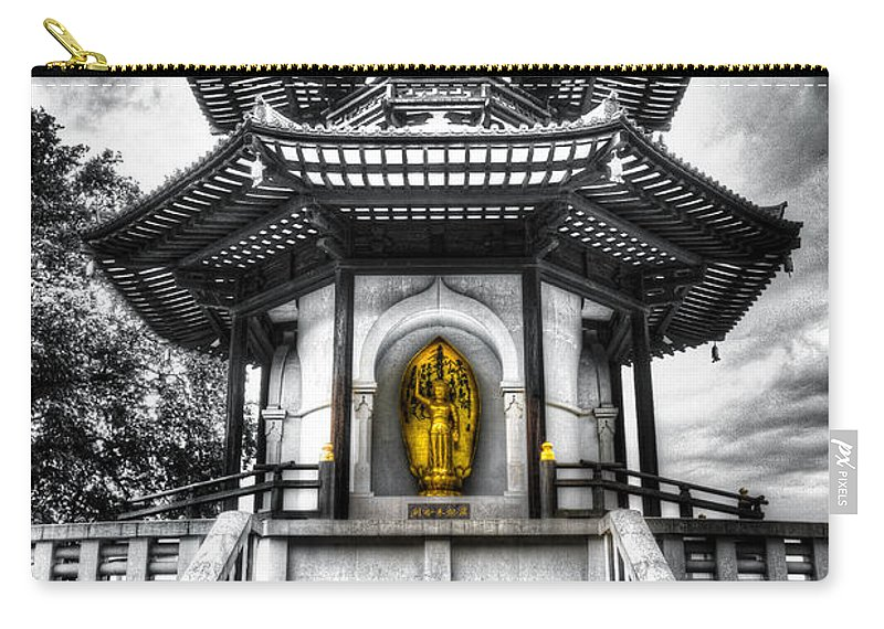Pagoda Carry-all Pouch featuring the photograph The Pagoda by David Pyatt