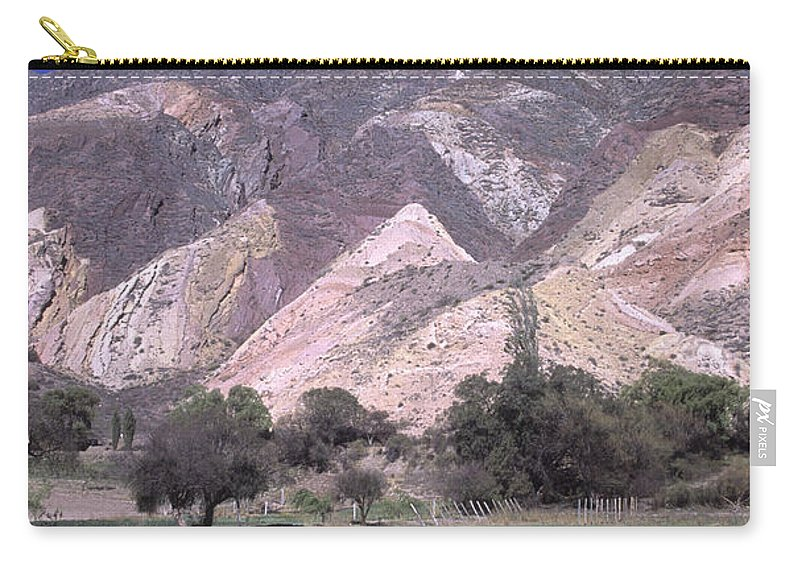 Argentina Carry-all Pouch featuring the photograph The Painters Palette Jujuy Argentina by James Brunker