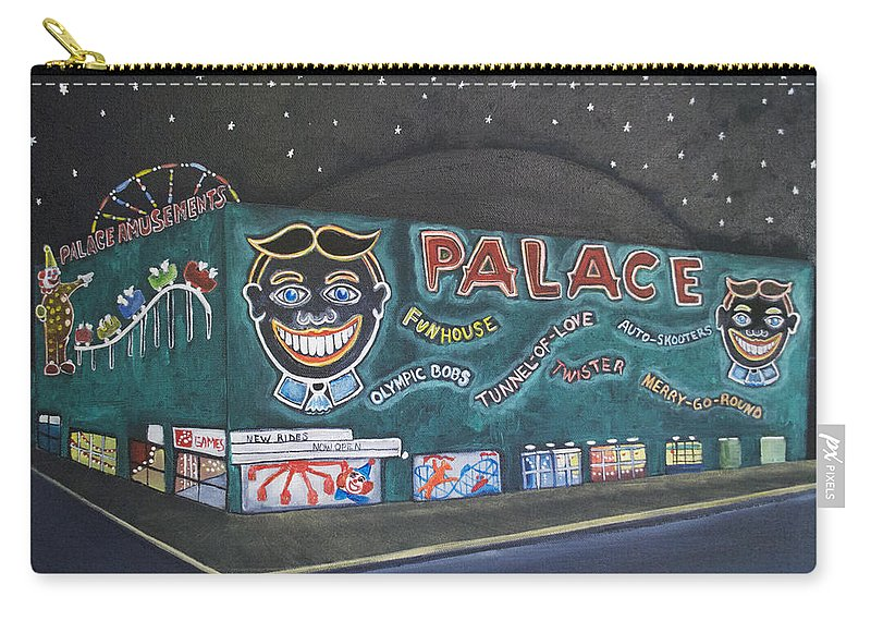 Tillie Carry-all Pouch featuring the painting The Palace at Night by Patricia Arroyo