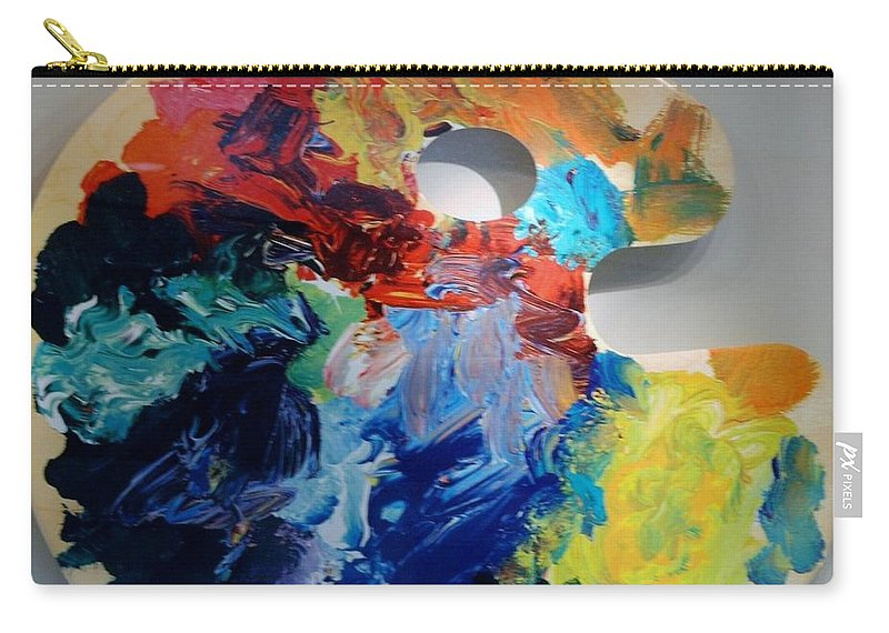 Abstract Carry-all Pouch featuring the photograph The Palet by Rob Hans