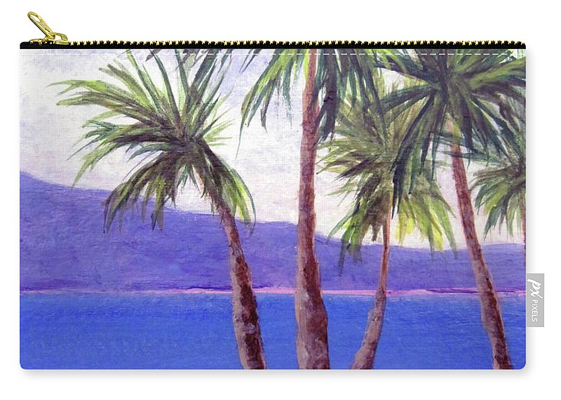 Ocean Carry-all Pouch featuring the painting The Palms by Susan Plenzick