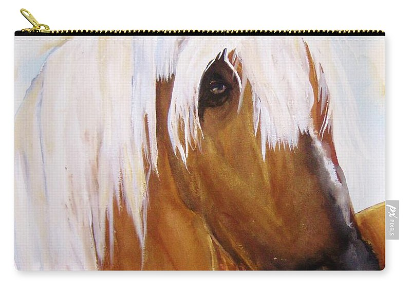 Horse Carry-all Pouch featuring the painting The Palomino by Lil Taylor