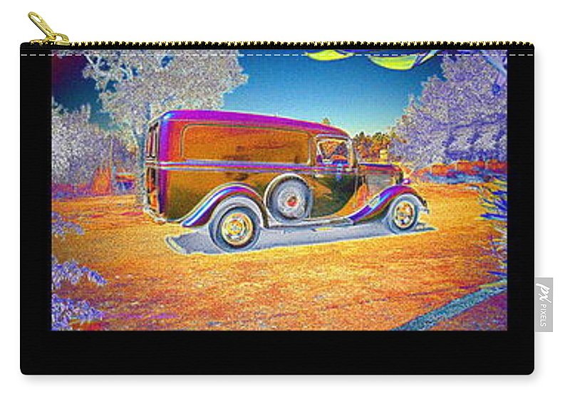 Panel Carry-all Pouch featuring the photograph The Panel - Collage by Joyce Dickens