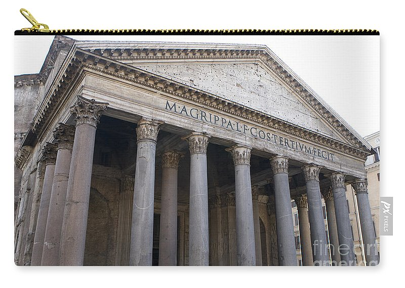 Travel Carry-all Pouch featuring the photograph The Pantheon Rome by Jason O Watson