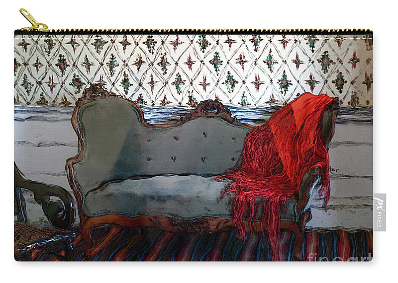 Furniture Carry-all Pouch featuring the painting The Parlor At Chicago Joe's by RC DeWinter