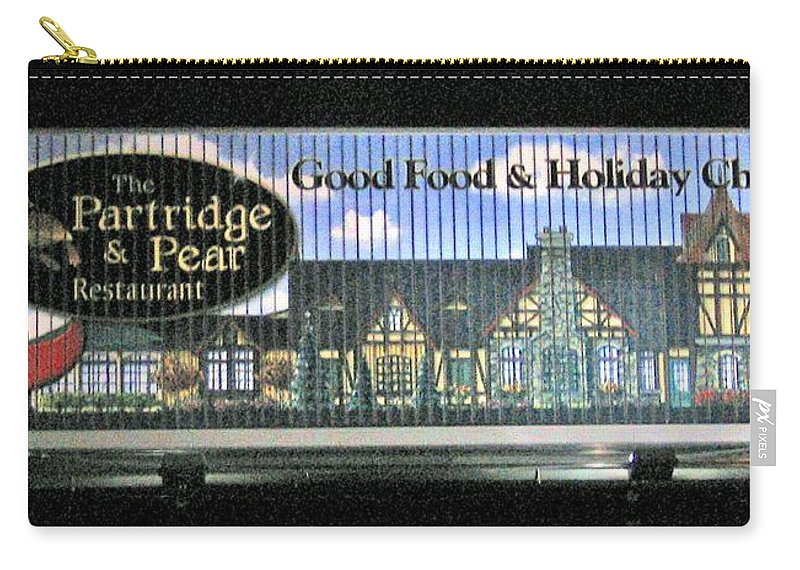 Photograph Carry-all Pouch featuring the photograph The Partridge And Pear Restaurant by Marian Bell