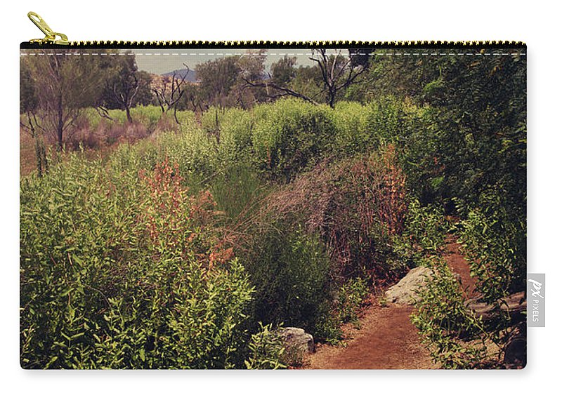 Big Morongo Canyon Preserve Carry-all Pouch featuring the photograph The Past Is Gone by Laurie Search