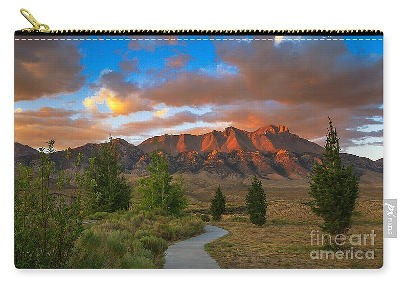 Sunrise Carry-all Pouch featuring the photograph The Path To Beauty by Robert Bales