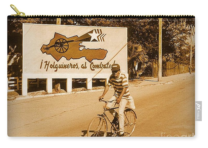 Bicycles Carry-all Pouch featuring the photograph The People Of Holguin Are Fighters by John Malone
