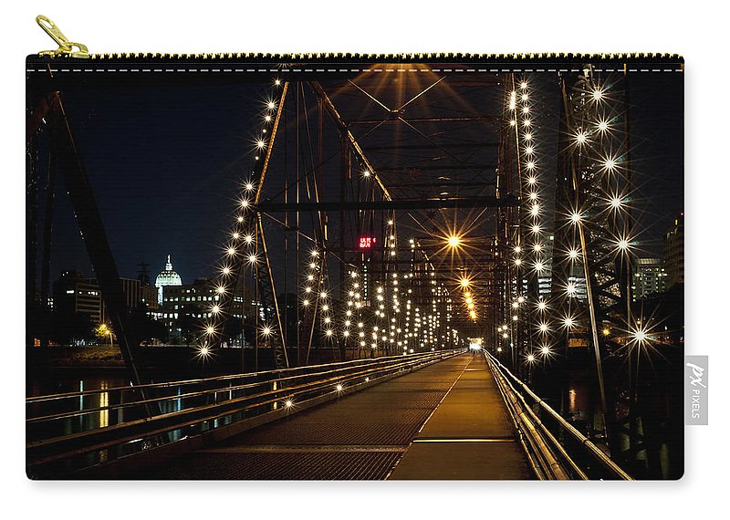 Bridge Carry-all Pouch featuring the photograph The People's Bridge by Deborah Klubertanz
