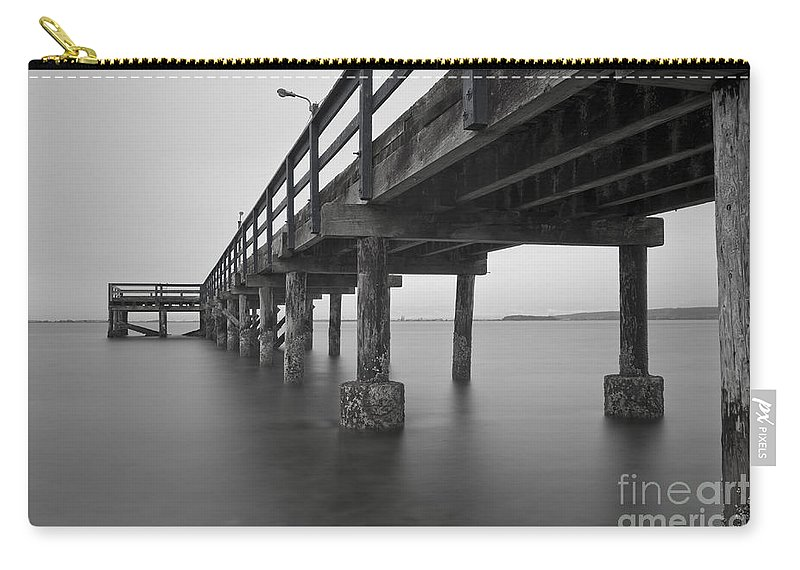 White Rock Carry-all Pouch featuring the photograph the Pier by Rod Wiens