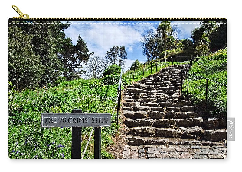 St Michaels Mount Carry-all Pouch featuring the photograph The Pilgrims' Steps by Susie Peek