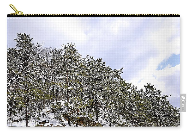 Mountain View Carry-all Pouch featuring the photograph The Pines by Todd Hostetter